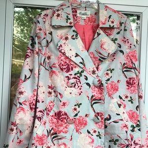 Forever 21 Floral-Jacquard Jacket